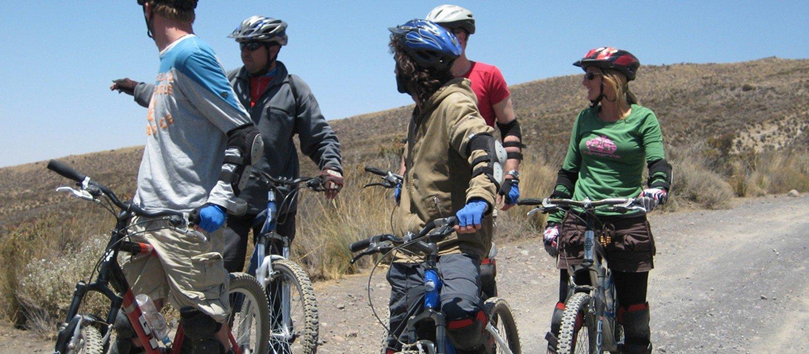 Mountain Biking from Patapampa to Chivay